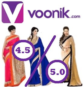 Voonik.com - Rating - Reviews - Top 10 - Best Online Shopping Sites in India For Women