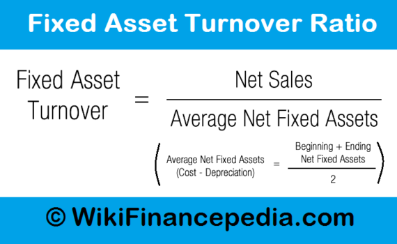Wikifinancepedia - Fixed Asset Turnover Ratio – Definition, Analysis, Formula, Example