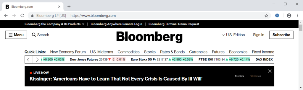 Bloomberg - Wikipedia of Finance - Financial Website World